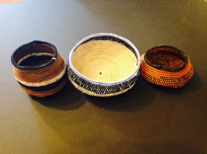 1 Large Crochet Basket $30, 2 Small Crochet Baskets $20/ea by Karin Groth