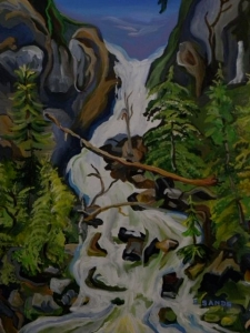 Big Bird falls at Lava Lake by Sylvia Sands $325