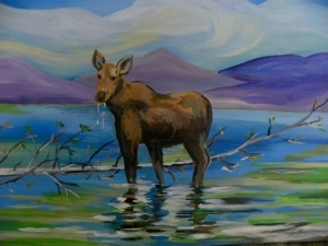 Cow Moose by Sylvia Sands $250