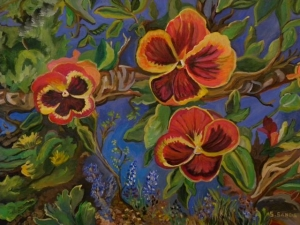 Pansies by Sylvia Sands $425 (20 X 26)