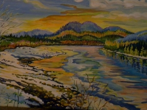 Skeena River by Sylvia Sands $180