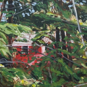 Cabin by Cynthia Powell SOLD