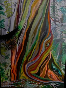 Cedar with Eagle by Sylvia Sands $260