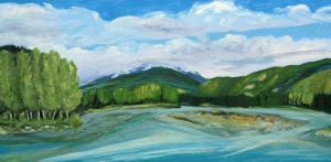 Copper River at the Skeena by Cynthia Powell SOLD