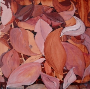 Gum Leaves $175 by Jo Colley (24 X24)