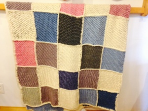 Knitted Wool Bed Spread - Queen size by Karin Groth $300