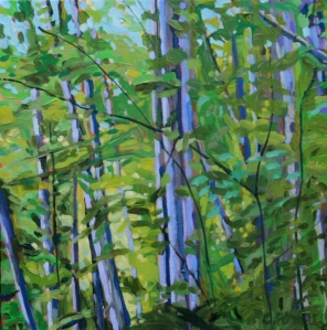 Leaning Trees by Cynthia Powell SOLD