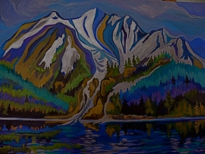 Oscar Peak Overlooking Lava Lake by Sylvia Sands $275