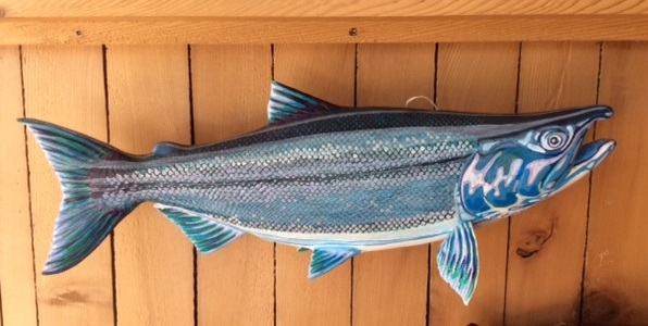 Painted Coho by Roderick Brown