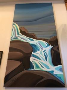 Silver Creek Falls II by Marie Christine Claveau SOLD