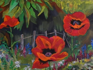 Poppies by Sylvia Sands