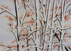 Snowy trees by Barb Ames