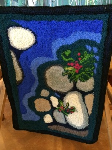 Stream by Karin Groth Smyrna (painting with wool) (22 1/2 x 31 1/2) $150