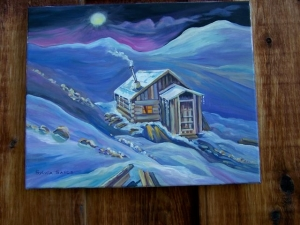Yukon Cabin by Sylvia Sands $240