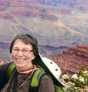 Kathleen hiking the Grand Canyon April 2013