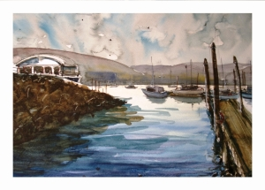 Marina View, waterolocur by Daria Wright $200