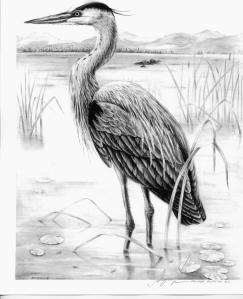 Heron by Katerina Mayenfels