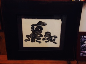 The Challenge 3/50 by Stan Bevan Framed Japanese Wood Block Print Limited Edition (16 1/2 x 17 1/2) $700