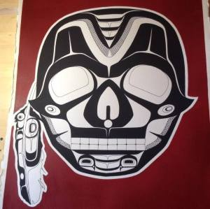 T'simshain Skull and Eagle Feather by Shawn Aster