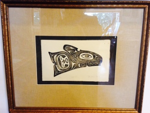 With In by Stan Bevan Framed Japanese Wood Block Print (23 x 18) $750