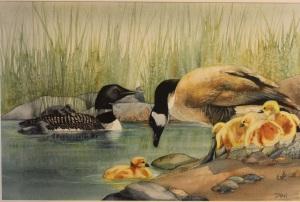 Goose  Loon by Dyan Myhr