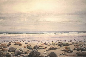 Beach Stones by Geoff Brasier