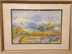 Mountain Peaks by Joan Marr Framed Original Watercolor (18 1/2 x 13 1/2) $200