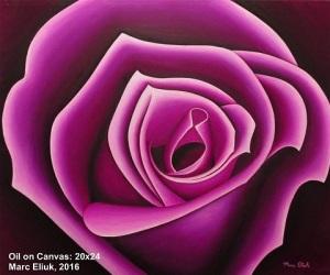 Emergence oil on canvas by Marc Eliuk 20 x 24sm