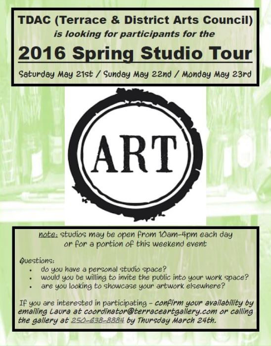 Spring Studio Tour Call out
