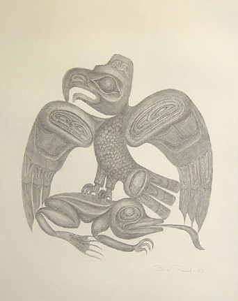 The Eagle and the Frog in Salmon Eater Myth by Bill Reid
