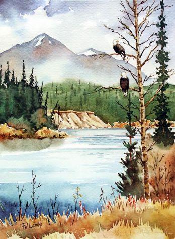Wild Takhini River by Fredrick Lemke