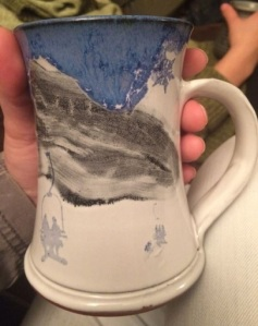 Chairlift Mug by Leanna Carlson