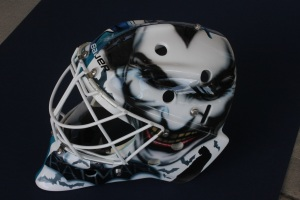 Batman Goalie Mask by Mark Hart