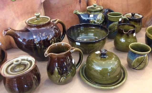 Leaf inspired pottery by Mary Lou Westman