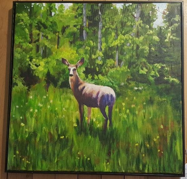 Deer Looking Back by Gail Turner Sears