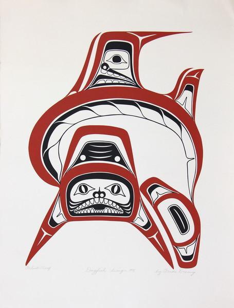 dogfish by freda diesing artist proof 1978