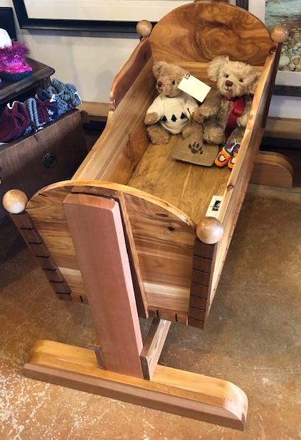 Hand made Cedar Cradle by Florien Longpre